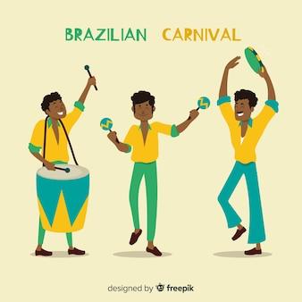 Collezione di musicisti del carnevale brasiliano