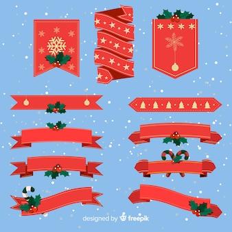 Collezione di nastri natalizi