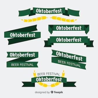 Collezione di nastri o ghirlande dell'oktoberfest