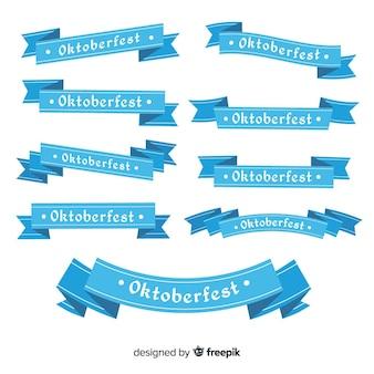 Collezione di nastri oktoberfest design piatto