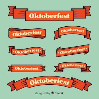 Collezione di nastri più oktoberfest design piatto