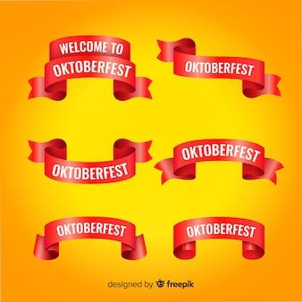 Collezione di nastro piatto oktoberfest