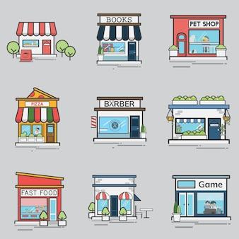 Collezione di negozi e negozi