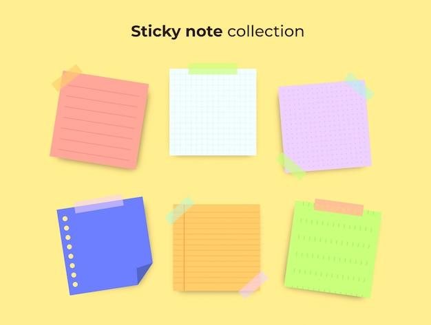 Collezione di note adesive