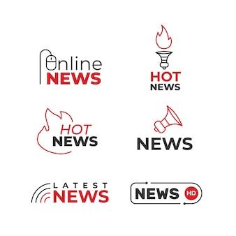 Collezione di notizie in stile logo