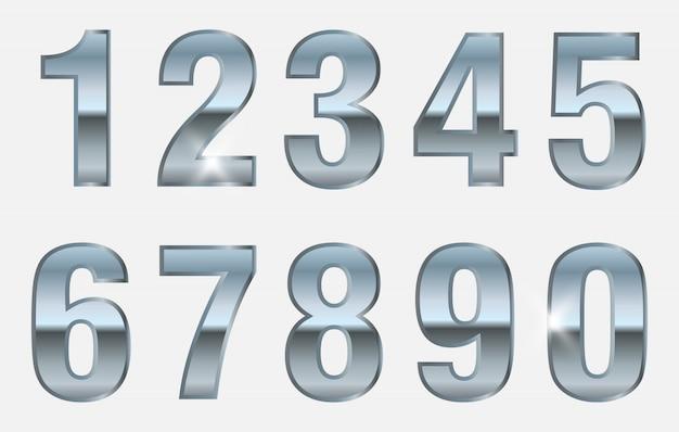 Collezione di numeri d'argento