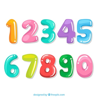 Collezione di numeri del fumetto con stile colorato