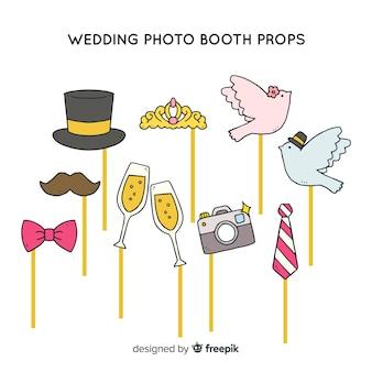 Collezione di oggetti per foto di matrimonio