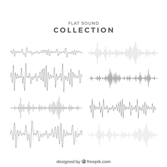 Collezione di onda sonora piatta
