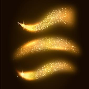 Collezione di onde glitterate