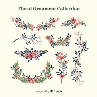 Collezione di ornamenti floreali