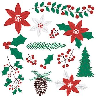 Collezione di ornamenti natalizi