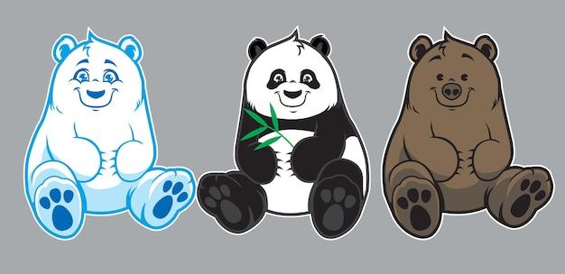 Collezione di orsetti per bebè