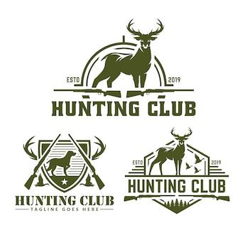 Collezione di pacchi logo di caccia
