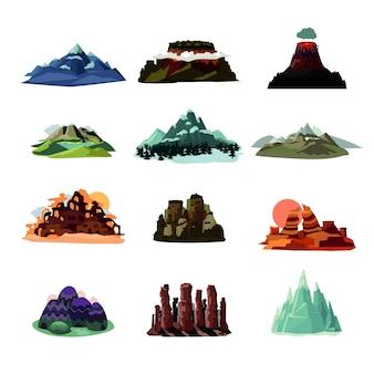 Collezione di paesaggi di montagna