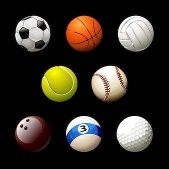 Collezione di palline da sport