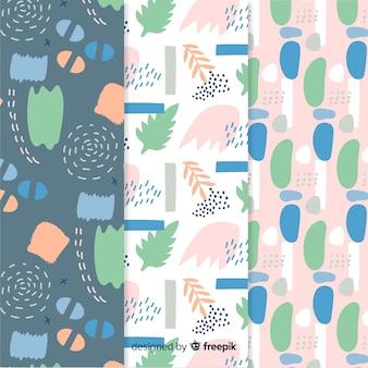 Collezione di pattern astratti disegnati a mano