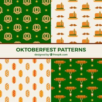 Collezione di pattern con elementi oktoberfest