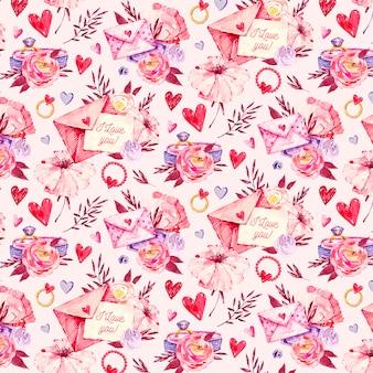 Collezione di pattern di san valentino