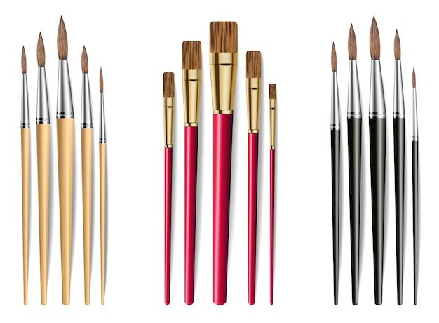 Collezione di pennelli da disegno