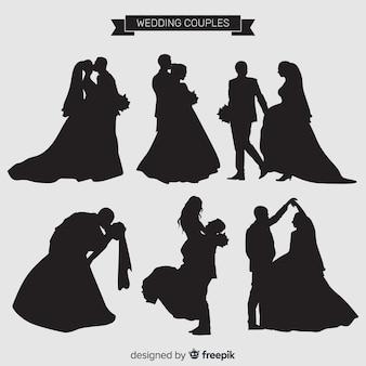 Collezione di personaggi delle coppie di sposi