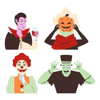 Collezione di personaggi di halloween