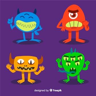 Collezione di personaggi di mostri di halloween