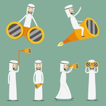 Collezione di personaggi di sheikh