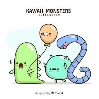 Collezione di personaggi kawaii