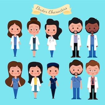 Collezione di personaggi medici