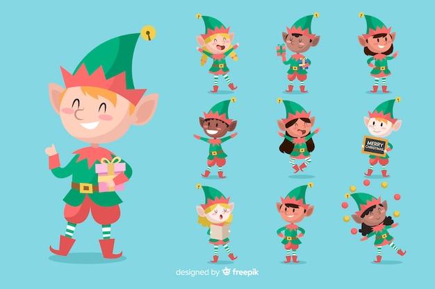 Collezione di personaggi natalizi