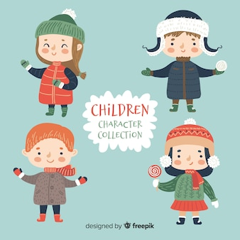 Collezione di personaggi per bambini