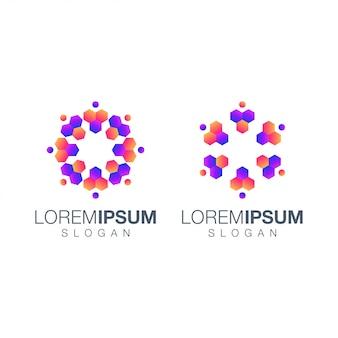 Collezione di persone gradiente logo design