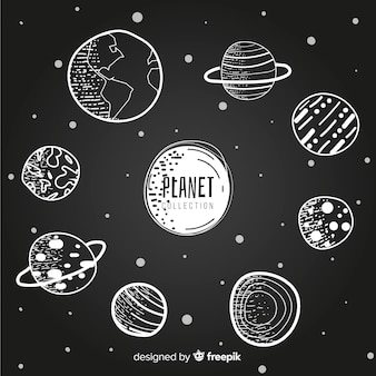 Collezione di pianeti della via lattea