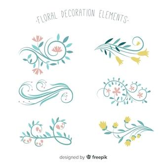 Collezione di piante disegnate a mano
