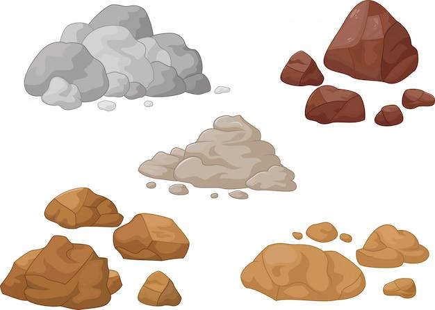Collezione di pietra e roccia