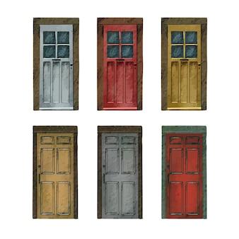 Collezione di porte d'ingresso d'epoca