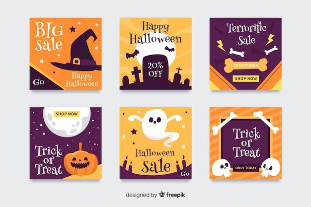 Collezione di post di instagram di halloween