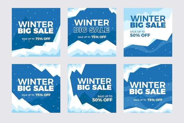 Collezione di post instagram vendita invernale