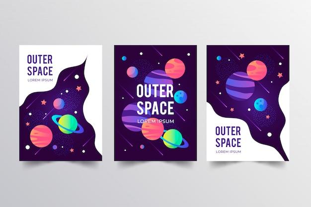 Collezione di poster dello spazio esterno
