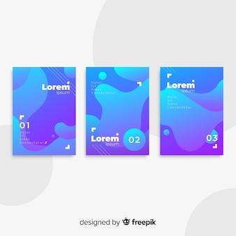 Collezione di poster di forme fluide