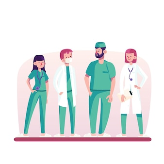 Collezione di professionisti della salute