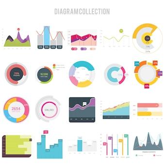 Collezione di progettazione di un diagramma