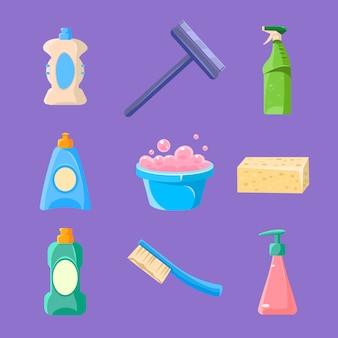 Collezione di pulizie e pulizie