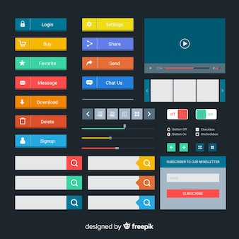 Collezione di pulsanti web design