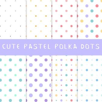 Collezione di puntini pastello polka