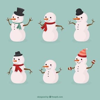 Collezione di pupazzi di neve