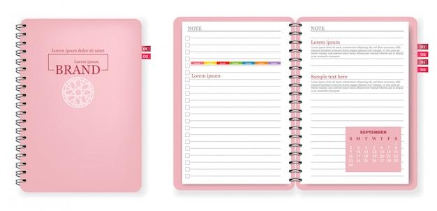 Collezione di quaderno rosa