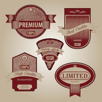 Collezione di qualità premium con design in stile vintage retrò