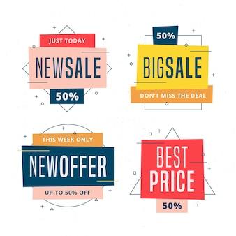 Collezione di raccolta colorata etichetta vendita